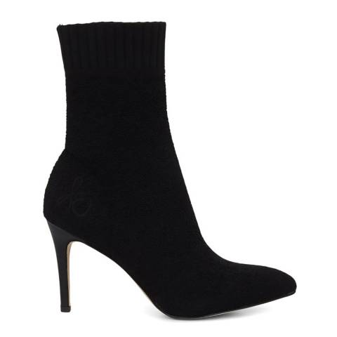Sam Edelman Black Oksana Boucle Sock Bootie