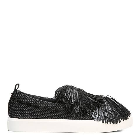 Sam Edelman Black Emory Fringe Sneakers
