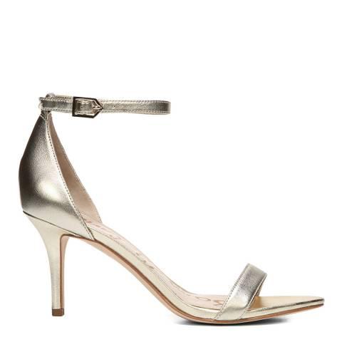 Sam Edelman Soft Metallic Jute Patti Ankle Strap Sandals