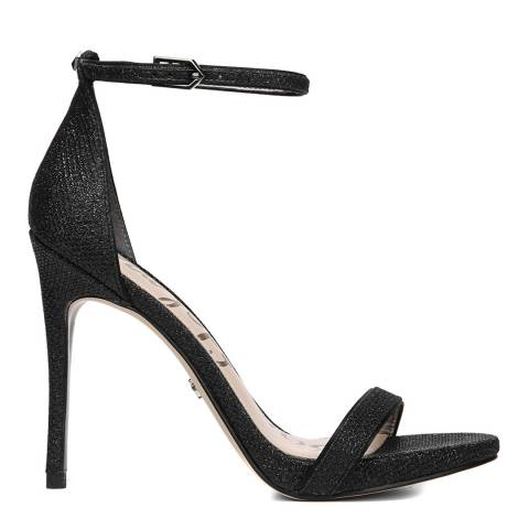 Sam Edelman Black Metallic Mesh Ariella Ankle Strap Sandals