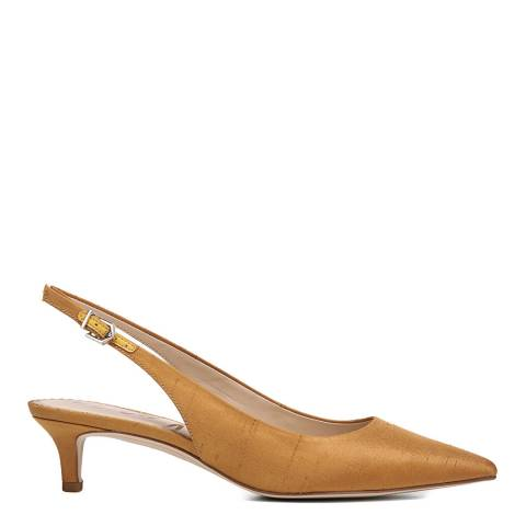 Sam Edelman Dark Gold Yellow Ludlow Slingback Kitten Heel