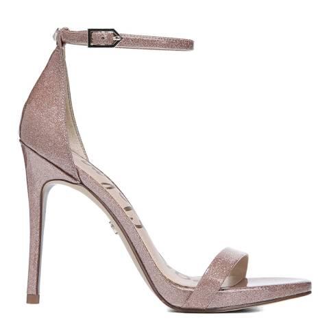 Sam Edelman Nude Glitter Patent Ariella Ankle Strap Sandals