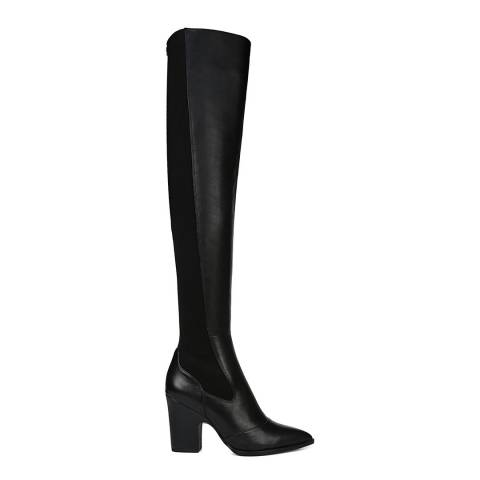Sam Edelman Black Natasha Leather Over the Knee Boot
