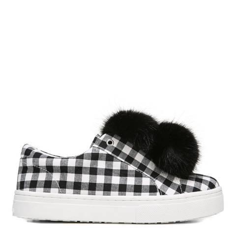 Sam Edelman Black/White Gingham Print Leya Sneakers