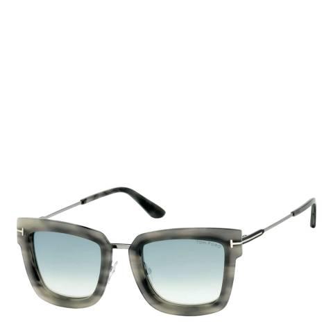 Tom Ford Women's Brown/Blue Lara Sunglasses 52mm