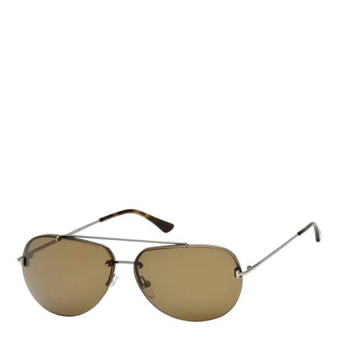 Tom Ford Unisex Silver Tom Ford Sunglasses 63mm