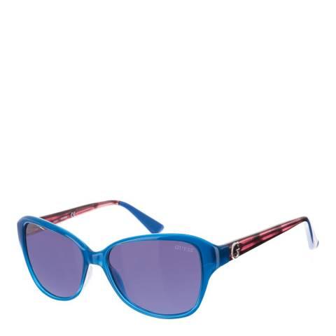 Guess Women's Blue/Purple Guess Sunglasses 55mm