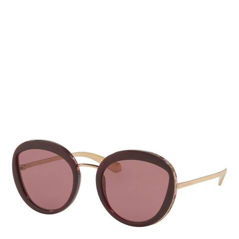 Bvlgari Women's Violet Bvlgari Sunglasses 52mm