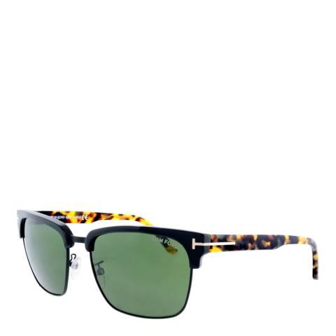 Tom Ford Men's Black/Green Sunglasses 57mm