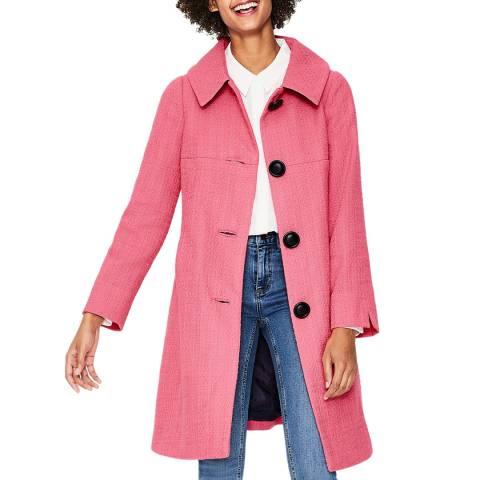 Boden Pink Vintage Swing Coat