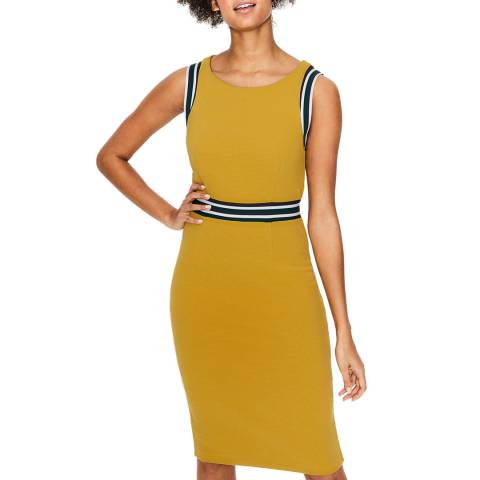 Boden Yellow Zada Ottoman Dress