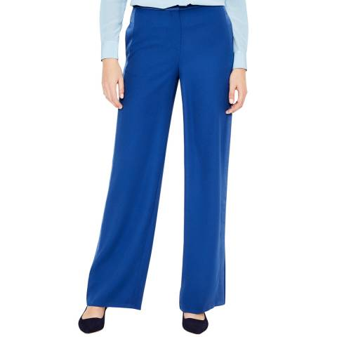 Boden Blue Exeter Wide Leg Trousers