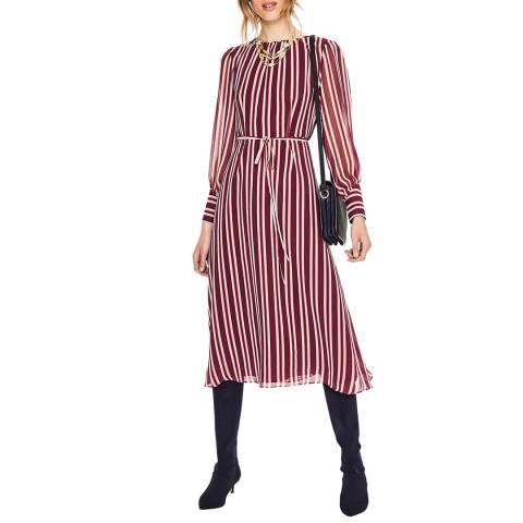 Boden Red Alba Midi Dress