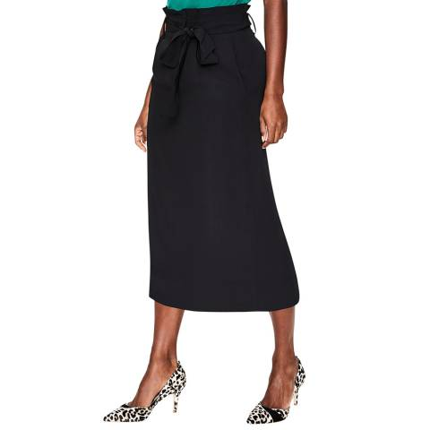 Boden Black Melina Paperbag Skirt