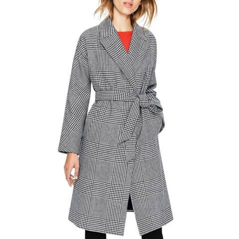 Boden Check Lindfield Wrap Coat