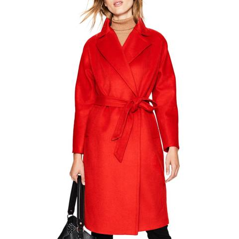 Boden Red Lindfield Wrap Coat
