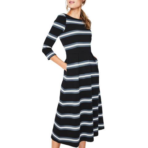 Boden Black Alma Ottoman Midi Dress