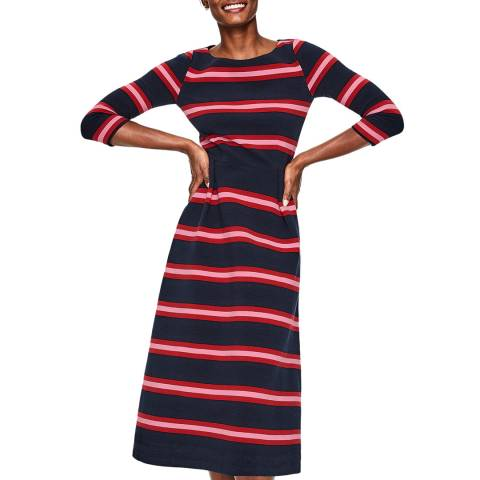 Boden Navy Alma Ottoman Midi Dress