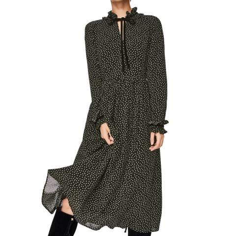 Boden Black Cecilla Midi Dress