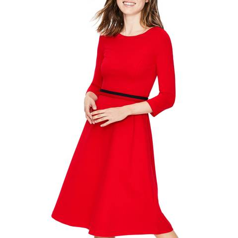 Boden Red Irene Ponte Dress
