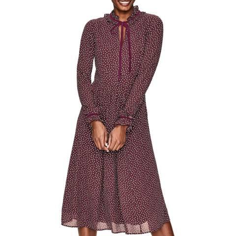 Boden Purple Cecilla Midi Dress