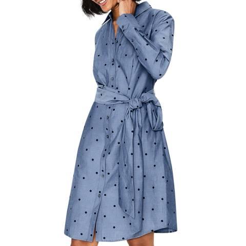 Boden Blue Modern Shirt Dress