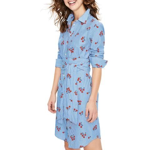 Boden Blue Floral Shirt Dress