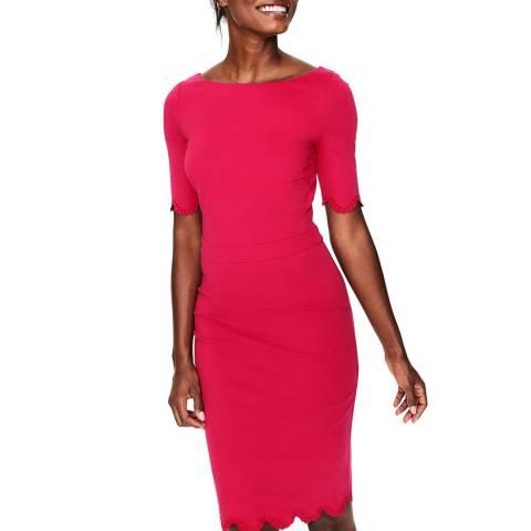 Boden Pink Emma Ponte Dress
