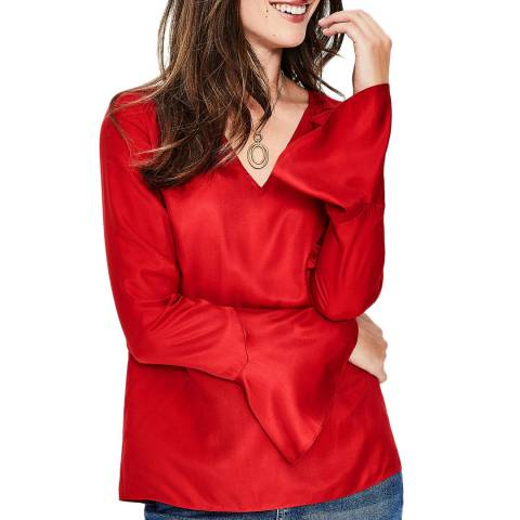 Boden Red Lucie Top