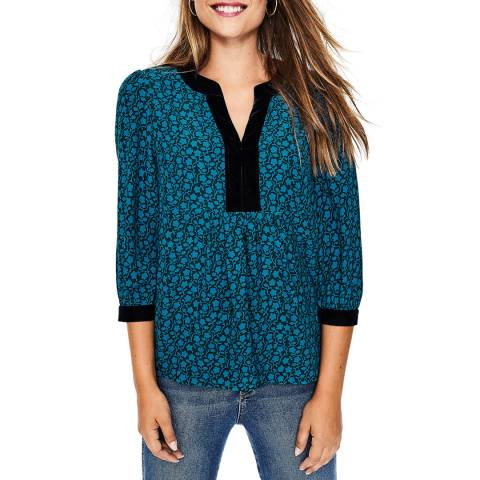 Boden Blue Annabelle Top
