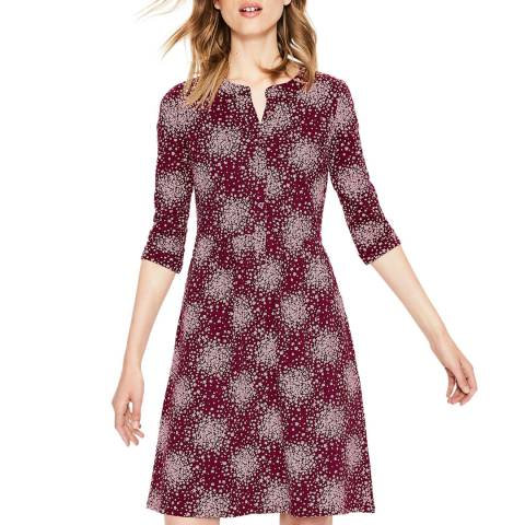 Boden Multi Red Briar Jersey Dress