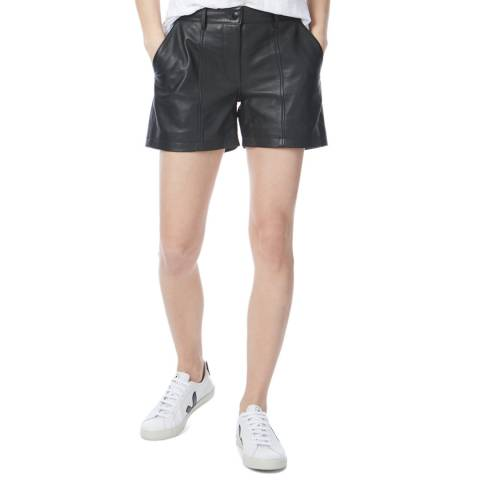 N°· Eleven Black Leather Shorts