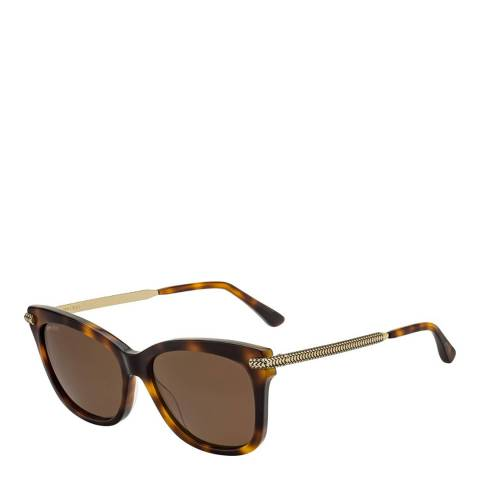 Jimmy Choo Unisex Brown Havana Jimmy Choo Sunglasses