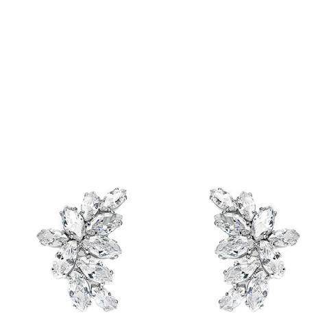 Liv Oliver Silver Multi Marquise Crystal Earrings