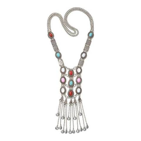 Liv Oliver Silver Plated Bohemian Necklace