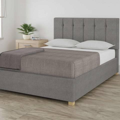 Aspire Furniture Pimlico Grey Double Eire Linen Ottoman Bed