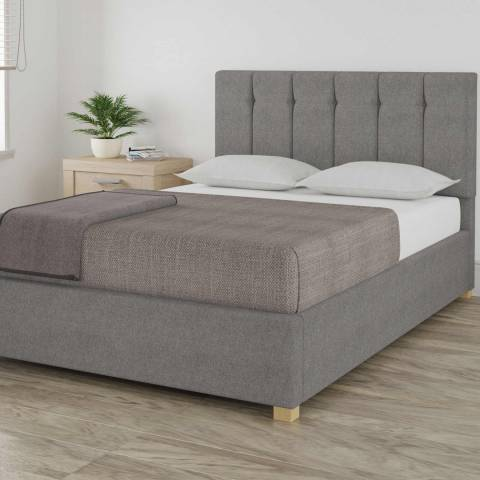Aspire Furniture Pimlico Grey King Eire Linen Ottoman Bed