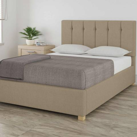 Aspire Furniture Pimlico Natural King Eire Linen Ottoman Bed