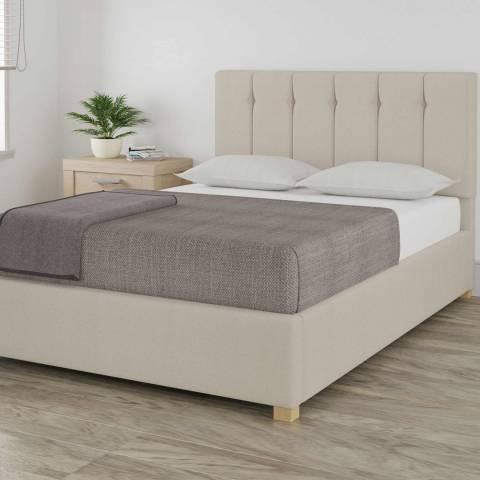 Aspire Furniture Pimlico Off White Double Eire Linen Ottoman Bed