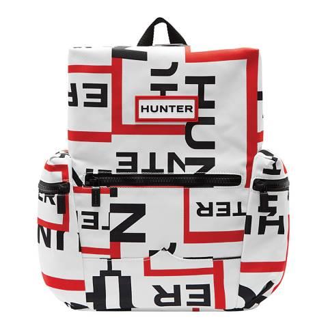 Hunter White Exploded Logo Mini Backpack