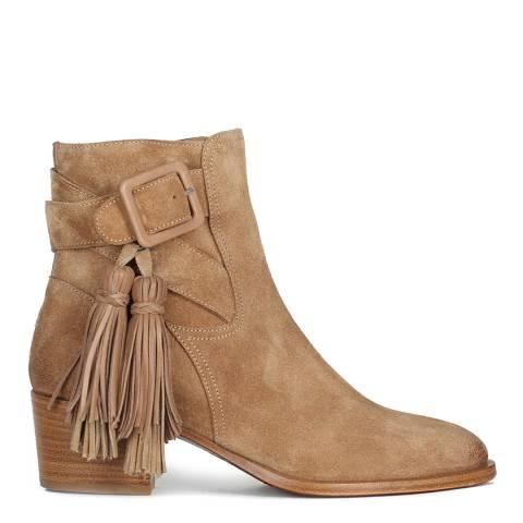 Oliver Sweeney Sand Tartufo Suede Tassle Ankle Boot