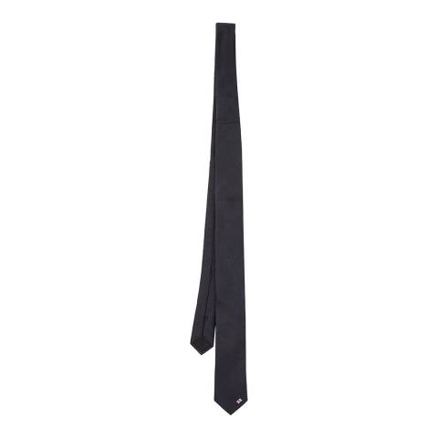 BOSS Navy Ribbed Silk Tie