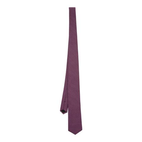 BOSS Purple Patterned Silk Tie