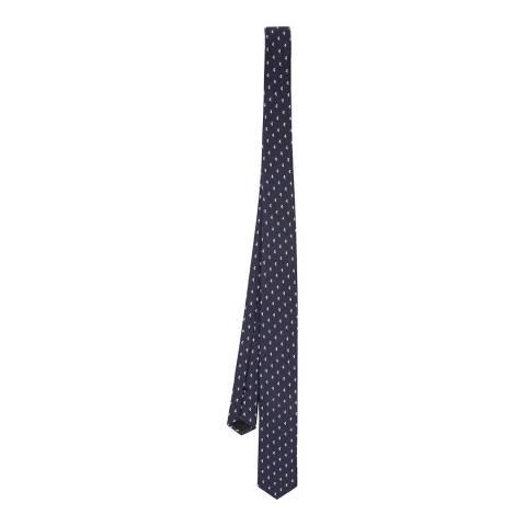 BOSS Navy Floral Silk Tie