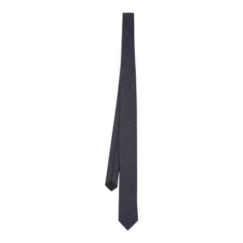 BOSS Navy Pinpoint Silk Tie