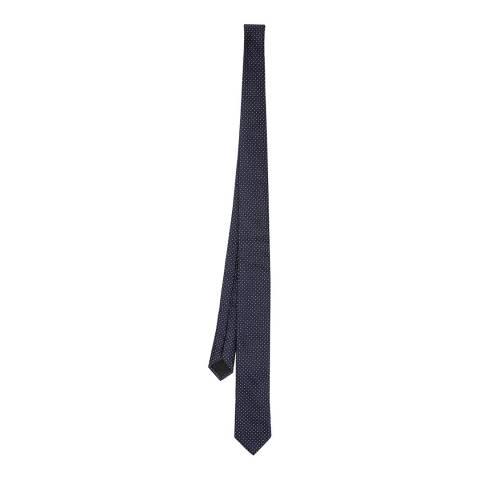 BOSS Navy Square Silk Tie