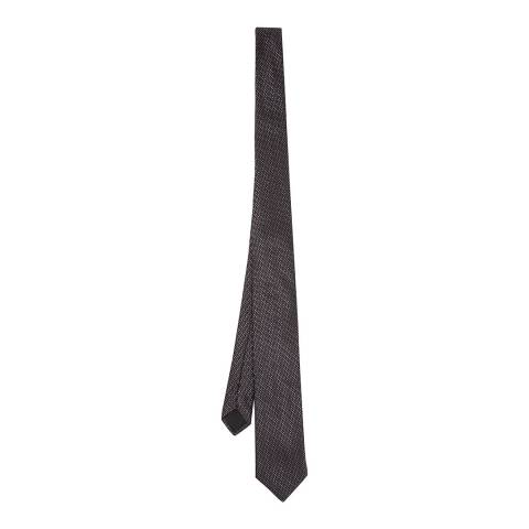 BOSS Charcoal Textured Silk Tie