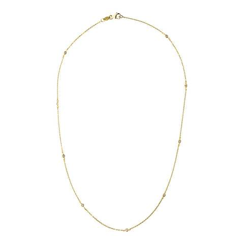 Only You Gold Tiffany Diamond Necklace 0.1cts