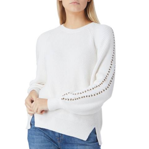 Joie White Daxton Long Sleeve Jumper