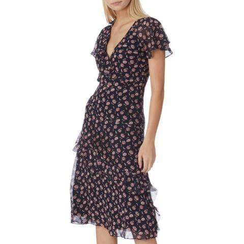 Joie Navy Midi Orita B Dress